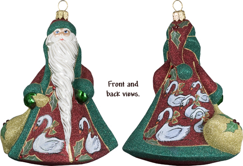 12 days of christmas seven swans a swimming fine quality christmas ornaments