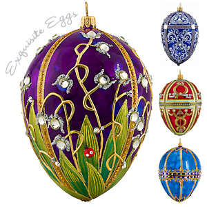 Exquisite egg ornaments.