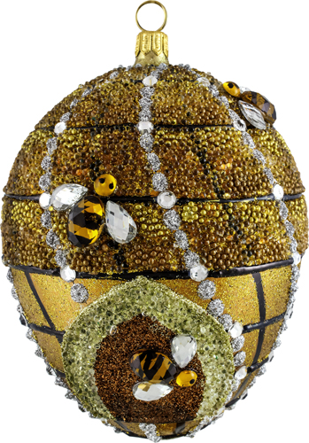 Beehive Jeweled Egg Ornament