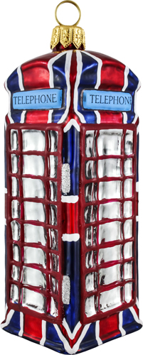 Union Jack Flag British Phone Booth.