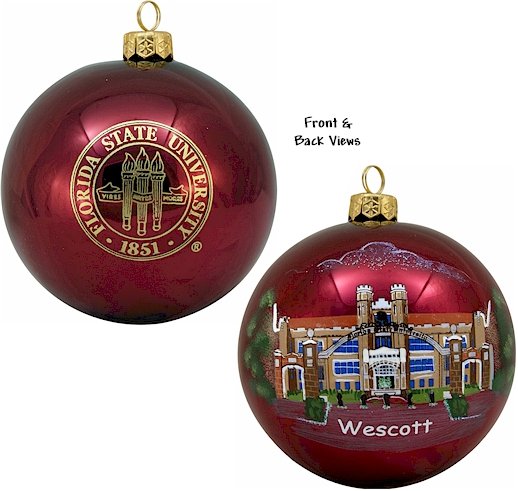 Christmas Ornaments Online Shopping Europe: European Blown Glass Christmas Ornaments- Collegiate