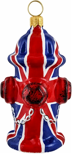 Union Jack flag fire hydrant.