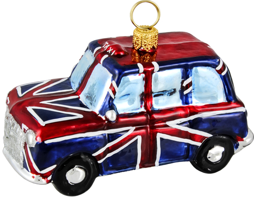 Union Jack flag London taxi cab.