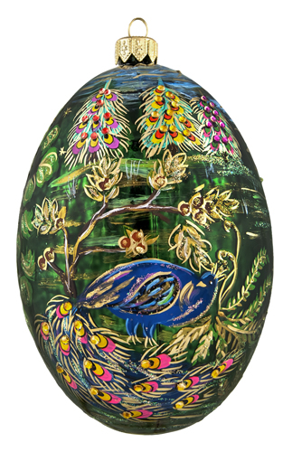 Peacock 360 Jeweled Egg