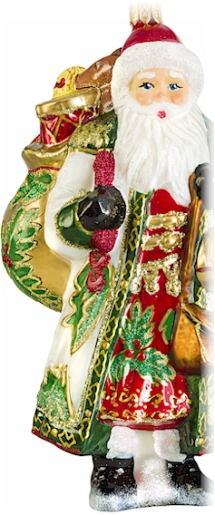 Glass Santa Claus Christmas Ornament