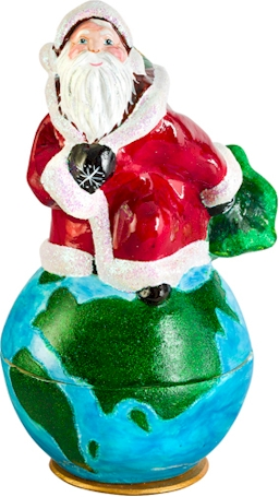 Candy Container- Santa Kugel- Sleigh