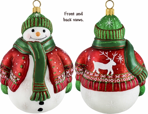 Snowman with Nordic sweater ornament.