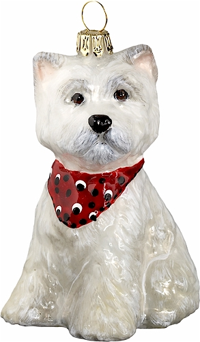 Westie Puppy with Bandana