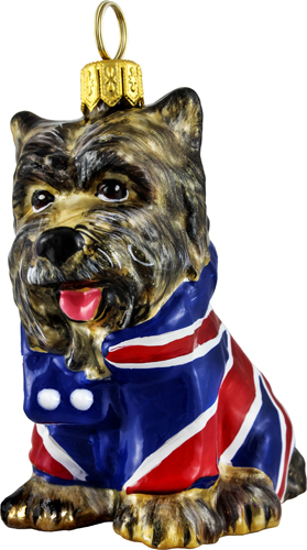 Union Jack flag Yorkshire Terrier.
